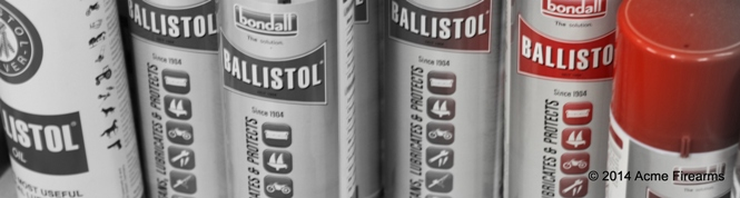 Ballistol Gun Cleaning Oil and Lubricant available in aerosol cans for fast and effective use